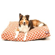 Burnt Orange Bamboo Rectangle Pet Bed by Majestic Pet Products