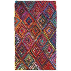 LR Resources Layla Multi 8 ft. x 10 ft. Chindi Indoor Area Rug-LAYLA03404MLT80A0 - The Home Depot