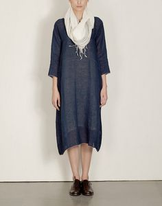 EKA White Oregano Tunic $178  Eka's beautifully detailed, minimal handwoven linen pieces are lovely on the skin. They are comfortable and airy as dresses in Summer and also great layered over pants. white 100% handwoven linen comfortable fit pleated sleeve and front