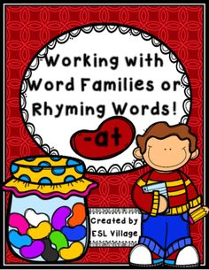 -at word family / CVC words / rhyming words from ESL Village on TeachersNotebook.com -  (15 pages)  - Working with spelling patterns will help your students to spell and read new words