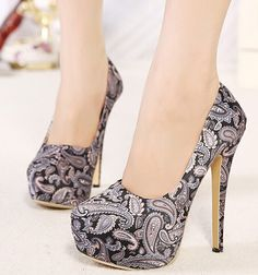 Charming Paisley Design High Heels Fashion Shoes on Luulla                                                                                                                                                                                 More