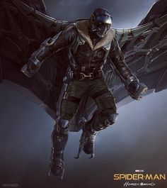 Concept Art World — Check out these Vulture concept art pieces for. Marvel Villains, Marvel Films, Marvel Art, Marvel Heroes, Marvel Characters, Marvel Cinematic, Spiderman Homecoming Vulture, Spiderman Homecoming Concept Art, Vulture Marvel