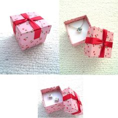 Cheap Cardboard Jewelry Boxes   Wholesale-40pc-lot-Pink-cherries-pendants-necklace-paper-jewelry ...