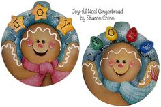 Joy-ful Noel Gingerbread Ornaments e-Pattern DOWNLOAD
