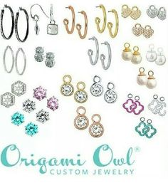 Earrings, www.rebeccas.origamiowl.com