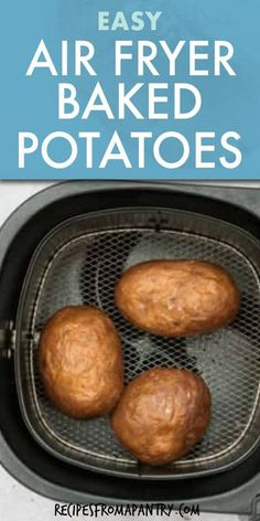 If you haven't made a baked potato in air fryer, you are seriously missing out! Air Fryer Baked Potatoes turn out light and fluffy inside, with a perfectly crispy skin on the outside. It's SO easy and faster than the tradition oven method. Add your favorite toppings for total vegetable meal perfection! Click through to get this awesome air fryer recipe!! #airfryer #airfryerrecipes #bakedpotatoes #airfryerbakedpotatoes #airfriedbakedpotato #glutenfreerecipes #vegan #potatorecipes #wwrecipes Air Fryer Recipes Vegan, Air Fryer Dinner Recipes, Air Fry Recipes, Baked Potato Recipes, Air Fryer Healthy, Ww Recipes, Dishes Recipes, Protein Recipes, Healthy Recipes