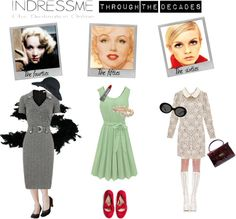 """""""Indressme through the decades"""" by eventyrdamen ❤ liked on Polyvore"""