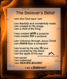 Christian Believers standing on the promises and word of God.