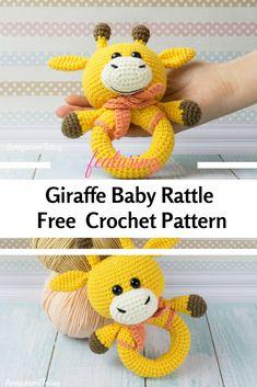 Free Crochet Giraffe Rattle Pattern