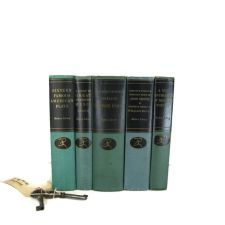 Blue Green Vintage Books , Modern Library Classic Collection , Blue Decorative Books , Wedding Prop , Photo Prop ,  Old Books