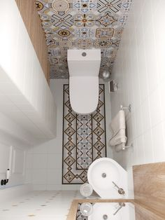 Fun with plastic bathroom tile - genius powder room design!Fun with plastic bathroom tile - genius powder room design! Bathroom design fun genius loris plastic 40 powder room ideas to Bad Inspiration, Bathroom Inspiration, Inspiration Boards, Fashion Inspiration, Wc Decoration, Small Toilet Room, Guest Toilet, Toilet With Sink, Cloakroom Toilet Small