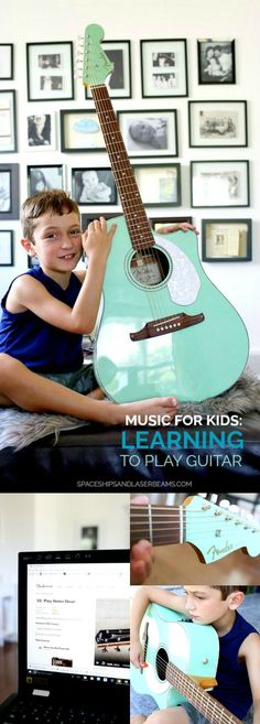 Music for Kids: Learning to Play Guitar #FenderPlay @Fender #ad