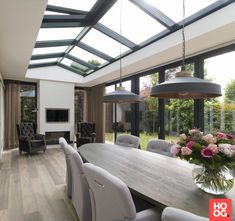 Pergola Attached To House Roof Code: 6989509321 Bungalow Extensions, Garden Room Extensions, House Extensions, House Extension Design, House Design, Outdoor Rooms, Outdoor Living, Open Plan Kitchen Living Room, Backyard Patio Designs
