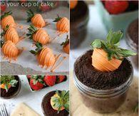 DIY Garden Carrot Easter Cupcakes