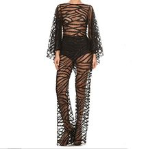 7e62a1bae44 Prima DND Z-Mezza Sequin Embroider Jumpsuit Bell Sleeves