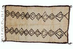 Vintage Moroccan Azilal Rug. $1,080.00, via Etsy.