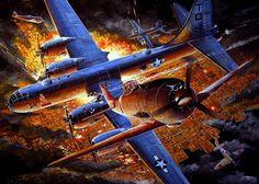 "Nakajima Ki-44 Shoki ""Tojo"" probably of the 2nd/47th Sentai attacking formation of B-29s of the 498th BG (VH)"