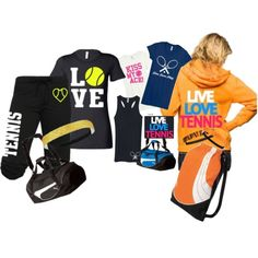 Love Tennis? You're going to love this set! Activewear Apparel has gear that is customizable and one of a kind. Get one for your partner, or the whole team! www.activewearapparel.com
