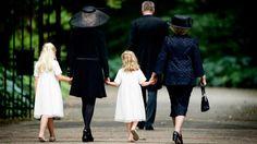 MYROYALS  FASHİON: Prince Friso' s funeral at the Stulpkerk in Lage Vuursche, Netherlands, August 16, 2013-Countess Luana, Princess Mabel, Countess Zaria, Princess Beatrix
