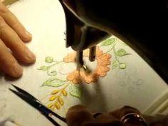 ВЫШИВКА на бытовой швейной машинке подготовка №1 machine embroidery - YouTube