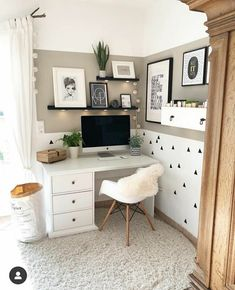 Home Office Design, Home Office Decor, Home Design, Diy Home Decor, Interior Design, Office Ideas, Design Ideas, Office Furniture, Office Decorations