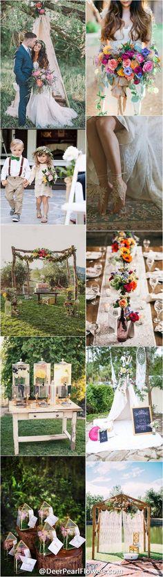 blog vine boho chic wedding ideas