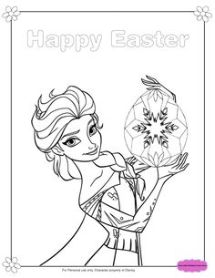 Frozen Elsa And Olaf Easter Coloring Pages Fun Printables For Kids
