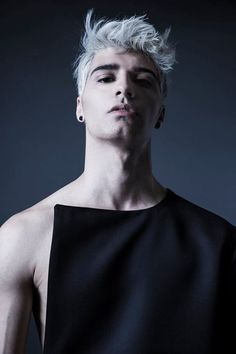 Add some white eyebrows and we have Arden before splintering XXl Century. Detail Photography by Fredrick Price Model is Brian Bettencourt Ragnor Fell, Price Model, Moustaches, Silver Hair, Dyed Hair, Male Models, Beautiful Men, Pose, Hair Makeup