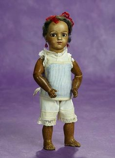 Elan Auction - June 10-11, 2017 | Very Dear Petite French Brown-Complexioned Bisque Bebe Bru, Size 2. $2000/3000