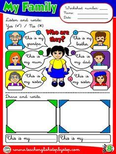 My Family - Worksheet 3