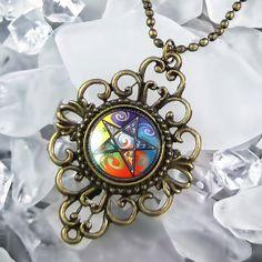 Ashwood Arts Short Sleeve t-Shirt Silver Celtic Pentacle Pentagram