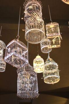 #birdcage #lighting #lights #goodidea                                                                                                                                                      More