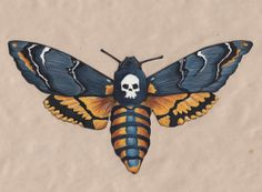 Death'shead Hawkmoth by JenniPhillipsArt on Etsy, $100.00
