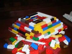 Lego Pyramid demonstrated for Egypt study. Also other ancient Egypt crafts on this site.