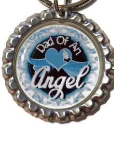 Dad Of An Angel Memorial Keychain, Miscarriage Gift, Angel Baby, Memorial Gift, Memorial Jewelry, In Memory Of, Remembrance Keychain