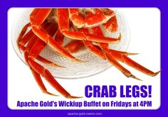 Delicious crab legs-- all you can eat, on Friday nights!