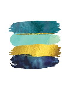 Brushstroke Abstract Printable Art Blue Teal and Gold Art Etsy Gold Color Palettes, Gold Color Scheme, Blue Colour Palette, Teal Colors, Colour Schemes, Color Blue, Modern Color Palette, Gold Palette, Teal Living Room Color Scheme