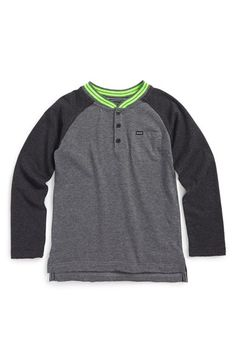KIDS HEADQUARTERS Hurley Raglan Baseball T-Shirt (Toddler Boys & Little Boys) available at #Nordstrom