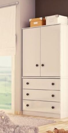 Ropero Country - Celeste Diforte Baby Furniture, Furniture Decor, Bedroom Furniture, Home Decor Bedroom, Kids Bedroom, Craftsman Furniture, Wooden Door Design, Bedroom Cabinets, Baby Room Design