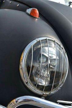 VW Beetle Skull headlight