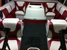 Boat on pinterest pontoon boats boat interior and pontoons for Pontoon boat interior designs