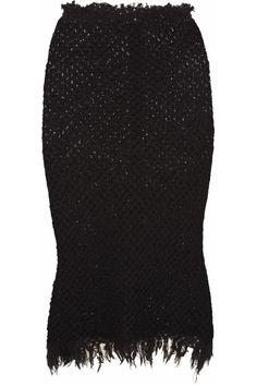 Étoile Isabel Marant Joliet waffle-knit cotton-blend skirt NET-A-PORTER.COM