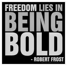 Freedom lies in being Bold | Anonymous ART of Revolution