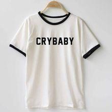 Mujeres/hombres Adolescente Estudiante Cry Baby Camiseta Divertida Camiseta de…