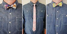#Groomsmen #bowtie + ties