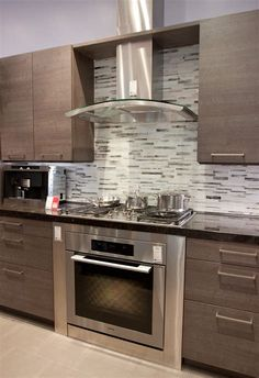 "Using Rock Kitchen Backsplash has Become the Recent Trend Now! Let's See Some Stunning Ideas to Make Your Kitchen Backsplash a ""Rock Ridden"". Kitchen Cabinets Light Wood, Minimalist Kitchen Cabinets, Light Wood Kitchens, Wood Kitchen Island, Contemporary Kitchen Cabinets, Kitchen Cabinet Design, Dark Cabinets, Wooden Island, Kitchen Storage"