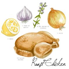 roast chicken recipe that reminds me to use the crockpot to make stock