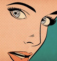 'Pop Art Woman', art print by Joseph McDermott  on artflakes.com