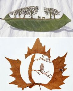 nature-art-leave-carvings-duran Inspiring works that celebrate nature