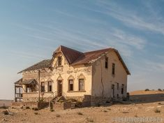 People lived and worked here 100 years ago, but now wind and sand are sweeping everything they knew away. This is Kolmanskop, Namibia's ghost town. Ghost Towns, Mansions, House Styles, Fall, Autumn, Manor Houses, Fall Season, Villas, Mansion